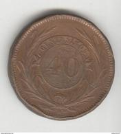 40 Centesimos Uruguay 1857 TTB - Uruguay
