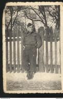 Photo D'un Soldat WW2  - Stalag III C - Tampon Geprüft Dans Une étoile De David Au Verso - Guerre, Militaire