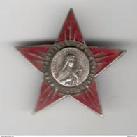 Badge émaillé Union Familiale Des étoilistes - Sancta Théresa A Jesu Infante - Très Bon état - Religion &  Esoterik
