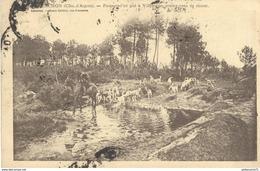 CPA  Arcachon - Passage D'un Gué à Villemarie - Rdv De Chasse -  Circulée 1913 - Arcachon