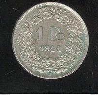 1 Franc Suisse / Switzerland 1944 TTB - Switzerland