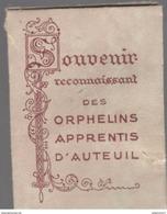 Souvenir Reconnaissant Des Orphelins Apprentis D'Auteuil - Etoffe Ayant Touché Au Révérend Père Brottier - Religion &  Esoterik
