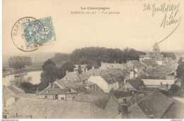 CPA  Mareuil Sur Ay - Vue Générale -  Circulée 1907 - Mareuil Sur Lay Dissais