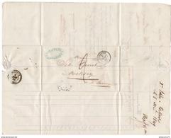 Marcophilie - Lettre De Belfort à Melisey - 1849 - Marcofilie (Brieven)