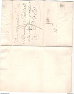 Marcophilie - Lettre De Chazelot à Dole - Marque Linéaire Rouge - 1819 - 1801-1848: Precursori XIX