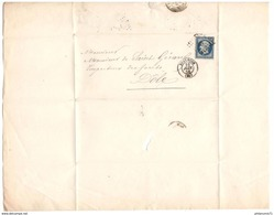 Marcophilie - Lettre De Besancon à Dole 1856 - Marcophilie (Lettres)