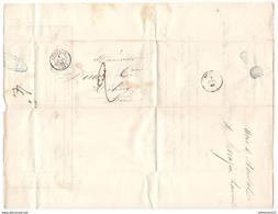 Marcophilie - Lettre De Langres à Mélisey 1849 - Marcophilie (Lettres)