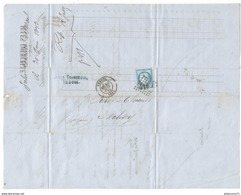 Marcophilie - Lettre De Vesoul à Mélisey 1873 - Tampon Grand Losange - Marcophilie (Lettres)