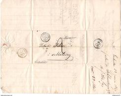 Marcophilie - Lettre De Guebwiller à Mélisey 1849 - Marcofilie (Brieven)