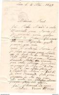 Marcophilie - Lettre De Lure à Mélisey 1849 - Marcofilie (Brieven)