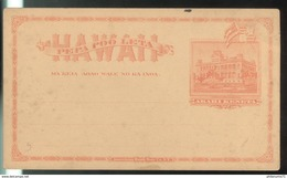 Entier Postal Akahi Keneta - Hawaï - Dos Vierge - Autres