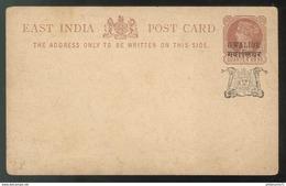 Entier Postal - East India - Quarter India - Gwalior - Dos Vierge - Inde