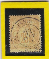 N° 92 + CACHET A DATE PARIS - REF 24-24 - 1876-1898 Sage (Type II)