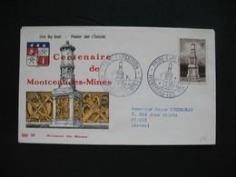 FDC  1956    N° 1065  Montceau-les-Mines   Monument Dit De Bourdelle Victimes De La Guerre 14-18  à Voir - FDC