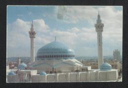 Jordan Picture Postcard King Abdulla Mosque Amman View Card - Jordanie