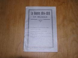 LA GUERRE 1914 1918 EN BELGIQUE Bataille Yser Merckem Gaz Steenstraete Ypres Aviation Littoral Allemand - Guerre 1914-18