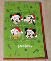 Carte De Voeux Bonne Année Mickey, Donald, Dingo Et  Minnie - Disney