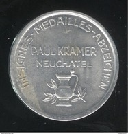 Jeton Suisse Insignes Médailles Abzechen - Paul Kramer Neuchatel - Professionnels / De Société