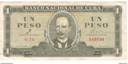Billet 1 Peso Cuba 1961 Bon état - Cuba