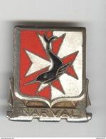 Insigne Sous-Marin Narval - Lancé En 1951 - AB Paris  - Bon état - Marine