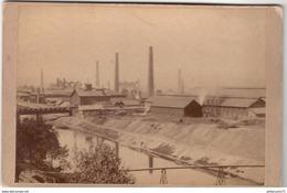 Photo Ancienne Sur Carton  Montluçon Usine Saint Jacques - Circa 1900 - Foto's