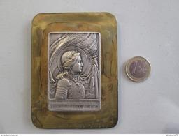 Plaque De Métal Embouti Sancta Joanna De Arc- Jeanne D'arc - France