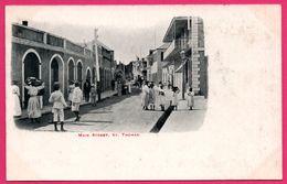 Cpa - Antilles - St Thomas - Main Street - Saint Thomas - Animée - Antilles Neérlandaises