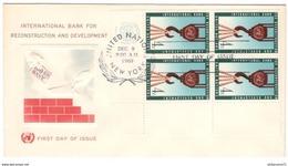 FDC Nations Unies - International Bank For Reconstruction And Development 1960 - Très Bon état - Etats-Unis
