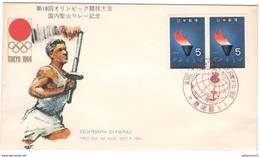 FDC Jeux Olympiques De Tokyo 1964 - Très Bon état - 1926-89 Empereur Hirohito (Ere Showa)