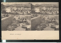 Cpa Monaco - Photo Stéréoscopique - La Condamine - Dos Non Divisé - Casino