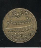 5 Piastres Etat Du Grand Liban 1925 - TTB - Liban