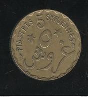 5 Piastres Syrienne Etat Du Grand Liban 1924 - TTB+ - Liban