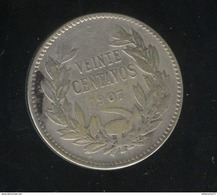 20 Veinte Centavos Chili / Chile 1907 - TTB - Chile