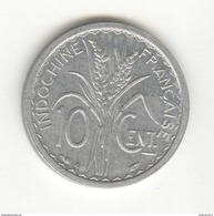 10 Centimes Indochine Française 1945 B - TTB+ - Colonie