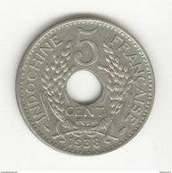 5 Centimes Indochine Française 1938 - SUP - Colonie