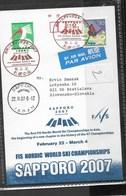 A369-JAPAN - WORLD CHAMPIONSHIPS SKI SAPPORO 2007 -POSTKART - Skiing