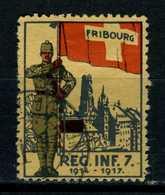 Suisse Cinderella Militaire Fribourg Rég Inf 7  1917/17 - Suisse