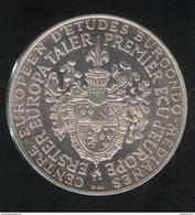 Médaille Suisse - Taler Europa - Centre Européen D'études Burgondo-Medianes 1971 R.Schuman - SUP - Professionnels / De Société