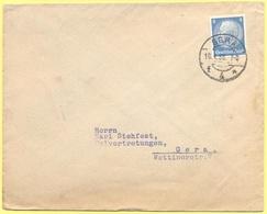 Deutsches Reich - 1933 - 4 - Viaggiata Da Gera Per Gera - Storia Postale