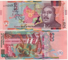 BAHAMAS New  20  Dollar     Pnew  (serie  2018)   UNC - Bahamas