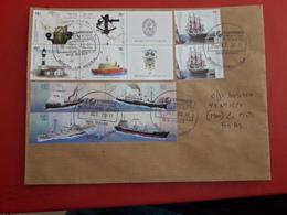 L'Argentine Enveloppe Circulé Avec Timbres Des Bateaux Et Des Instruments Navals - Argentinien