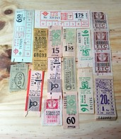 10 LOT OF 15, TICKETS OF BUS, , ISRAEL, ARGENTINE AND ODETHS. - Transportation Tickets