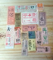 13 LOT OF 16, TICKETS OF BUS, , ISRAEL, AND ODETHS. - Titres De Transport