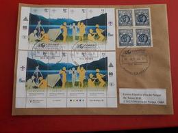 L'Argentine Enveloppe Circulé Avec Timbres Scout Et Une Rare Vignette Une Semaine Du Scoutismo 1940 - Argentinië