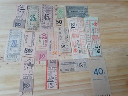 14 LOT OF 16, TICKETS OF BUS, , ISRAEL, AND ODETHS. - Titres De Transport