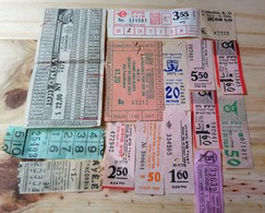 15 LOT OF 15, TICKETS OF BUS, , ISRAEL, ARGENTINE, AND ODETHS. - Transportation Tickets