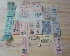 16 LOT OF 15, TICKETS OF BUS, ISRAEL, ARGENTINE, AND ODETHS. - Transportation Tickets