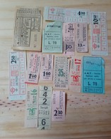 09 LOT OF 15, TICKETS OF BUS, ISRAEL, ITALY, ARGENTINE, AND ODETHS. - Transportation Tickets