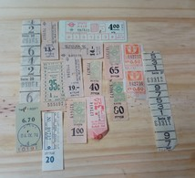 09 LOT OF 15, TICKETS OF BUS, ISRAEL,  AND ODETHS. - Titres De Transport