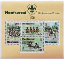Montserrat 1979  50th. Anniv.of Scouting In Montserrat S/S - Antilles